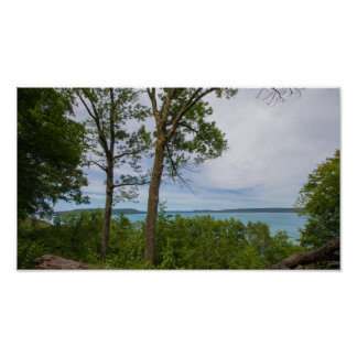 Poster Point d'inspiration, lac helen de gorge, Michigan