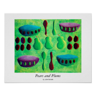 Poster Poires et prunes