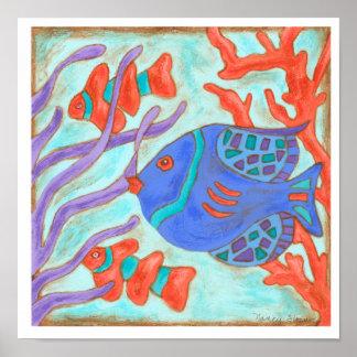 Poster Poissons Bruit-Colorés