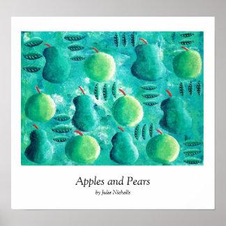 Poster Pommes et poires