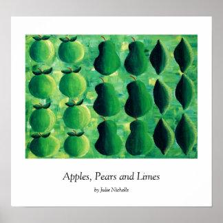 Poster Pommes, poires et chaux