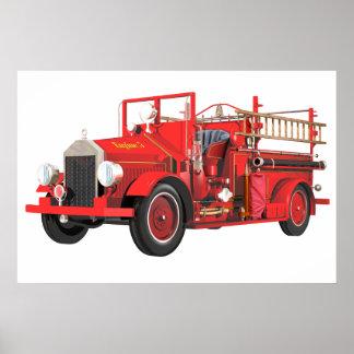 Poster Pompe à incendie antique
