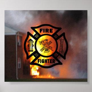 Poster Pompier maltais
