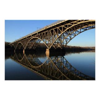 Poster Pont au-dessus de rivière de Schuylkill