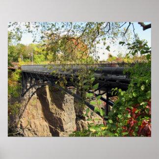 Poster Pont au parc de Mary Ellen Kramer Great Falls, NJ