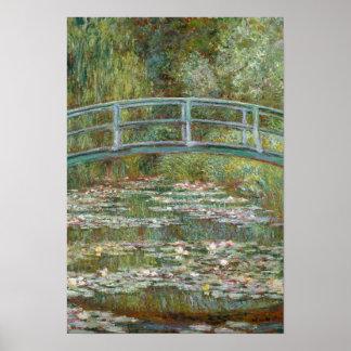 Poster Pont d'art de Monet au-dessus d'un étang des