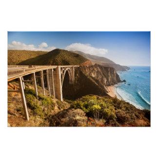 Poster Pont de Bixby, grand Sur, la Californie, Etats-Uni