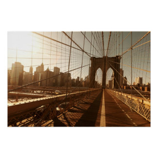 Poster Pont de Brooklyn
