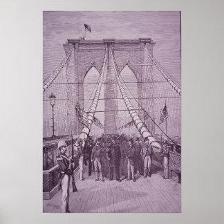 Poster Pont de Brooklyn, le Président Arthur à son