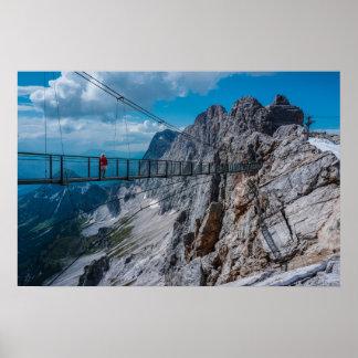 Poster Pont de descente en montagne