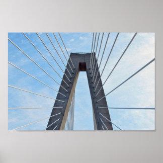 Poster Pont de Ravenel, Charleston, la Caroline du Sud