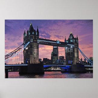 Poster Pont de tour, Londres