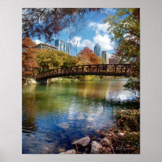 Poster Pont de traînée courant de lac ladybird - Austin,