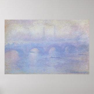Poster Pont de Waterloo par art d'impressionisme de