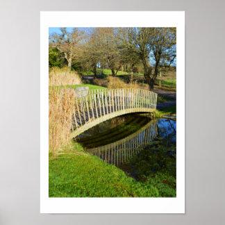 Poster Pont et étang