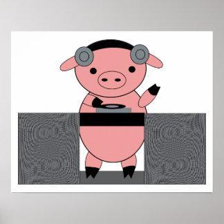 Poster Porc porcin du DJ