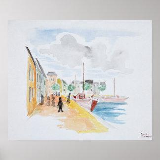 Poster Port de Concarneau   la Bretagne, France