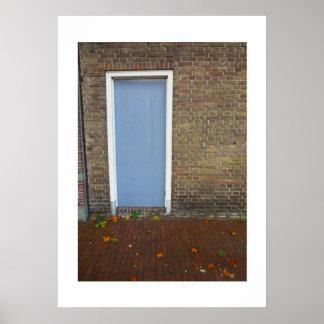 Poster Porte bleu-clair de photographie néerlandaise