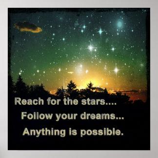 Poster Portée pour les étoiles
