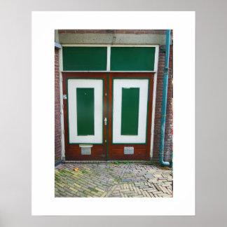 Poster Portes vertes de la photographie deux néerlandais