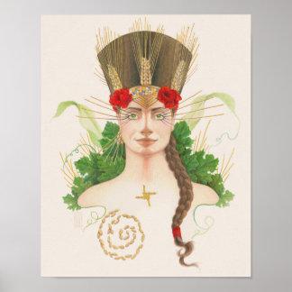 Poster Portrait de déesse de Lughnasadh