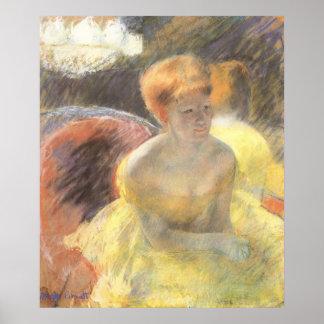 Poster Portrait de Lydia à l'opéra par Mary Cassatt