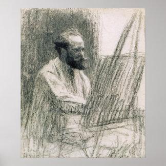 Poster Portrait de Manet | d'Edouard Manet à son chevalet
