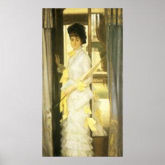 Poster Portrait de Mlle Lloyd par Tissot, beaux-arts