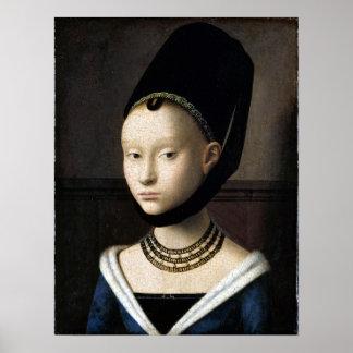 Poster Portrait de Petrus Christus d'une jeune femme