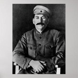 Poster Portrait de photo de Stalin