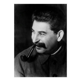 Poster Portrait de photo de Stalin
