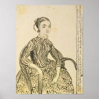Poster Portrait de Vincent van Gogh   d'une jeune fille,