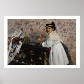 Poster Portrait d'Edgar Degas   de Mlle. Hortense