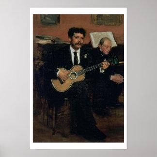 Poster Portrait d'Edgar Degas | des païens de Lorenzo