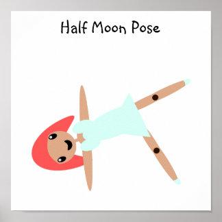 Poster Pose de demi-lune