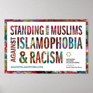 Poster Position avec des musulmans contre l'islamophobie