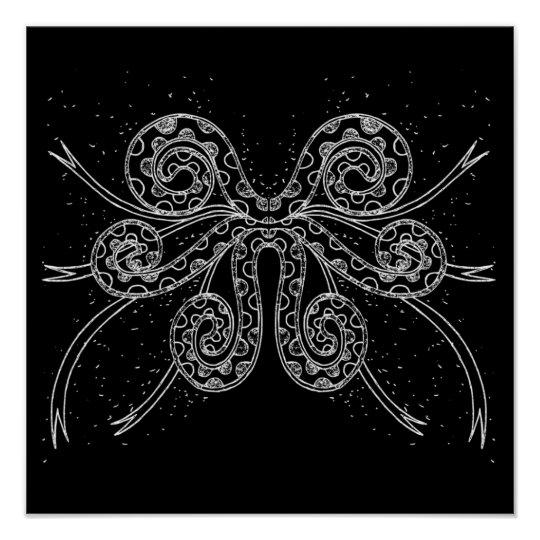 poster poulpe g ant. Black Bedroom Furniture Sets. Home Design Ideas