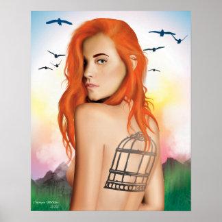 """Poster """"Pour être"""" affiche libre de peinture de Digitals"""