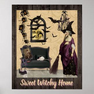 Poster Pourpre à la maison doux de Witchy