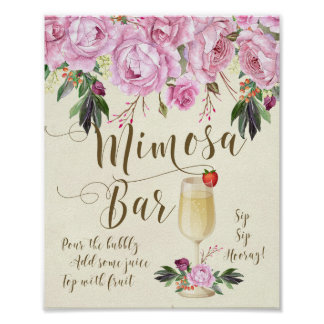 Poster Pourpre lilas de signe de mariage de barre de