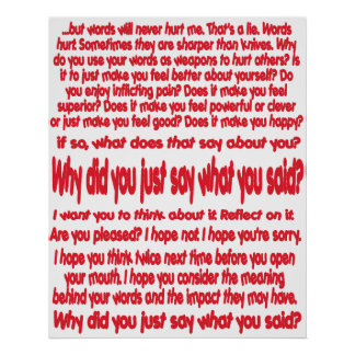 Poster Pourquoi avez-vous juste dit ce que vous avez dit
