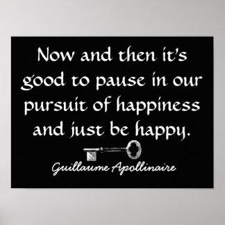 Poster Poursuite de bonheur --- Citation sur l'affiche