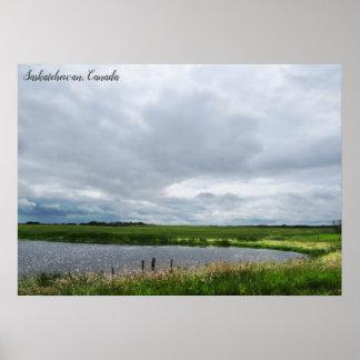 Poster Prairies paisibles de Canadien de la nature |