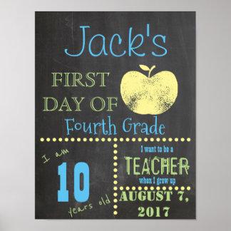 Poster Premier jour d'affiche d'école