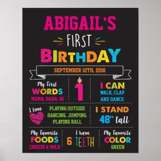 Poster Première affiche d'étape importante d'anniversaire