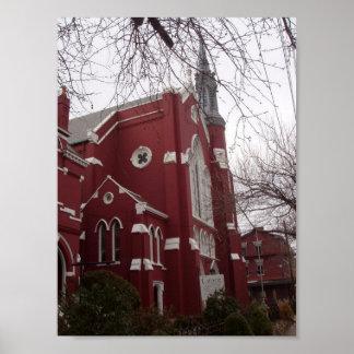 Poster Première Église Méthodiste Unie historique