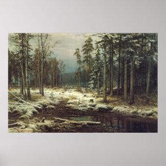Poster Première neige