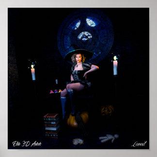 Poster prêtre de sorcière