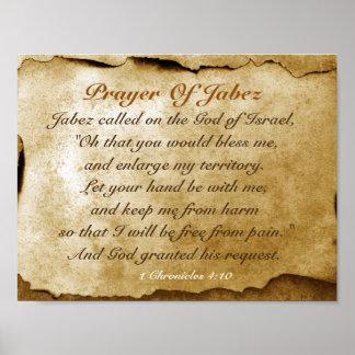 Poster Prière de Jabez 1 bible de 4h10 de Chronicles