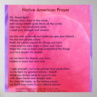 Poster Prière de Natif américain